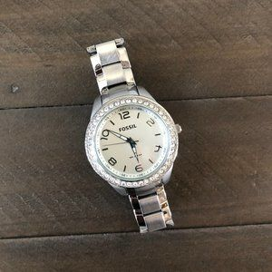 Fossil Silver Crystal Edge Watch